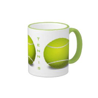 Taza de las pelotas de tenis