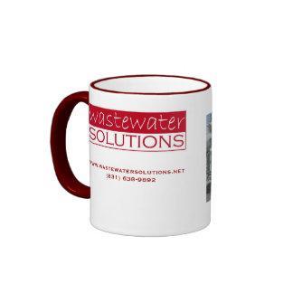 taza de las soluciones de las aguas residuales