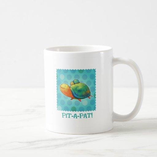 Taza de las tortugas de la turquesa (manija derech