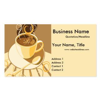 Taza de Latte 2 tarjetas de visita