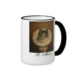 "Taza de ""Le Meow"" del gato del vintage"