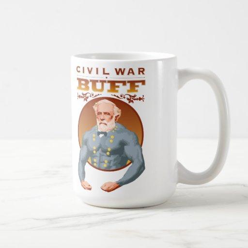 Taza de Lee de la piel de ante de la guerra civil-