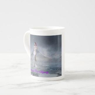 Taza de levantamiento de la porcelana de hueso de  taza de porcelana