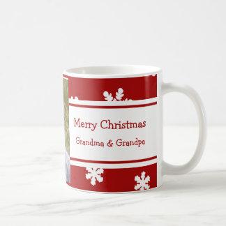 Taza de los abuelos de las Felices Navidad de la