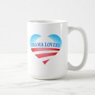Taza de los amantes de Obama