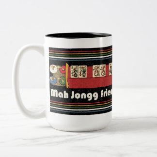 Taza de los amigos del Mah Jongg