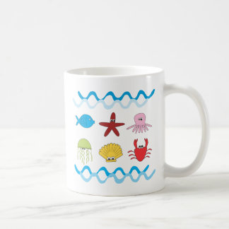 Taza de los animales de mar