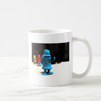 Taza de los ayudantes del robot del juguete de la