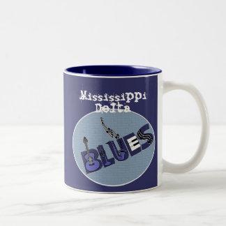 Taza de los azules del delta de Mississippi