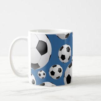 Taza de los balones de fútbol del fútbol