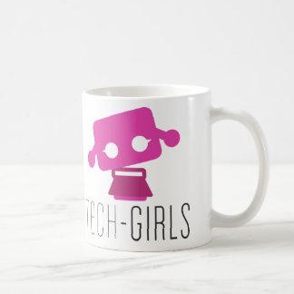 Taza de los chicas de la tecnología con el punto p