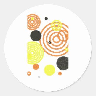 taza de los círculos pegatina redonda
