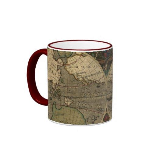 Taza de los colectores del mapa de Viejo Mundo del