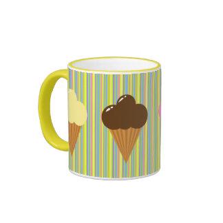 Taza de los conos de helado