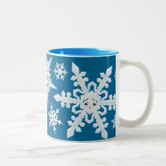 Taza de los copos de nieve