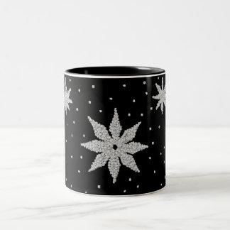 Taza de los copos de nieve del deslumbramiento