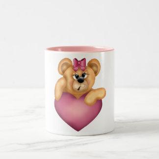 Taza de los corazones de los osos de peluche