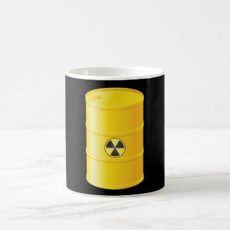 Taza de los desechos radioactivos