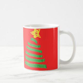Taza de los días de fiesta del árbol de navidad