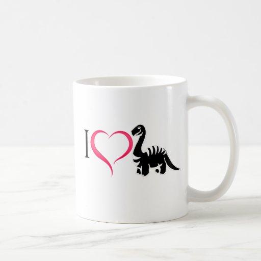 Taza de los dinosaurios del amor