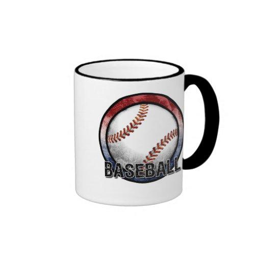 Taza de los E.E.U.U. del emblema del béisbol