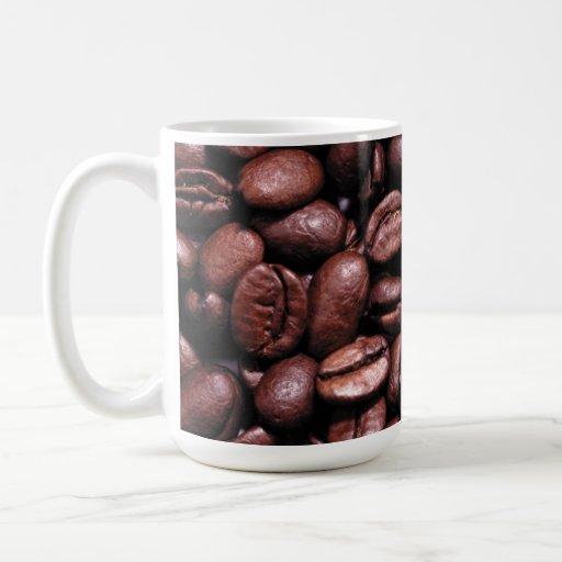 taza de los granos de café