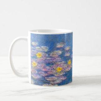Taza de los lirios de agua amarilla de Monet