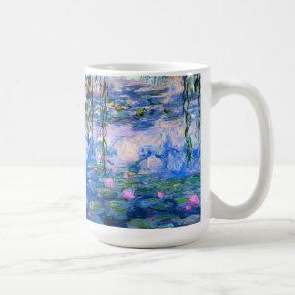 Taza de los lirios de agua de Monet