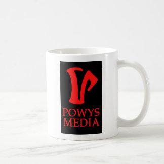 Taza de los medios de Powys (logotipo 2)