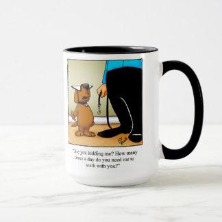 """Taza de los """"paseos"""" del humor del dueño del perro"""