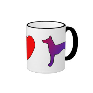 Taza de los perros de Ibizan del amor de la paz