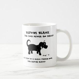 Taza de los perros negros del rescate