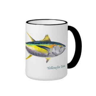 Taza de los pescados de atún de trucha salmonada