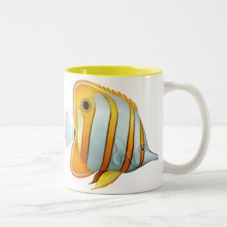 Taza de los pescados de la mariposa de Copperband