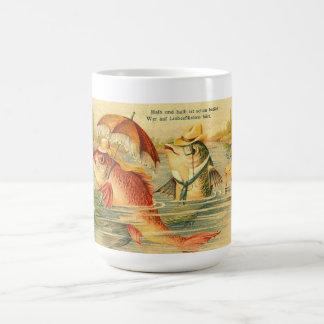 Taza de los pescados de la señora y del caballero