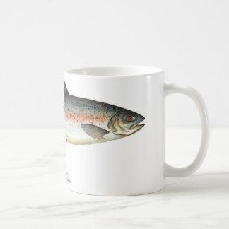 Taza de los pescados de la trucha arco iris