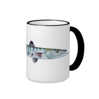 Taza de los pescados del Barracuda