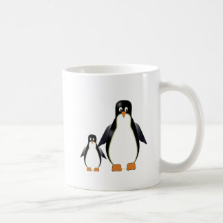 Taza de los pingüinos del dibujo animado