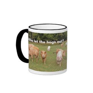 taza de los Quien-dejar--cerdos-hacia fuera