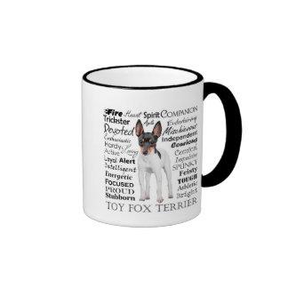 Taza de los rasgos del fox terrier del juguete