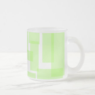 Taza de los rectángulos - verde lima