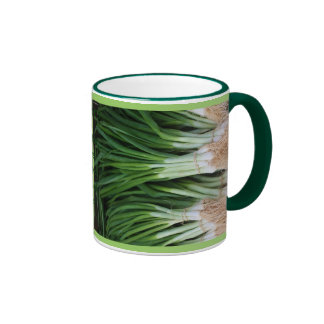 Taza de los Scallions/de las cebollas verdes