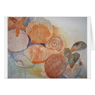 Taza de los Seashells de la orilla del jersey Felicitación