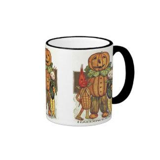 Taza de los Veggies de Halloween del vintage
