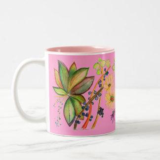 Taza de lujo rosada de la flor