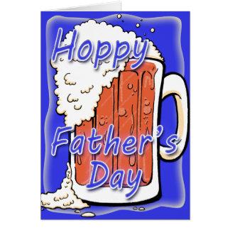 Taza de lúpulo de la cerveza inglesa del día de pa tarjeton