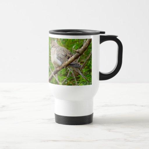 Taza de luto del viaje del pájaro de la paloma