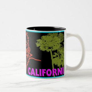 ¡Taza de Macvy Beverly Hills California! Taza De Dos Tonos