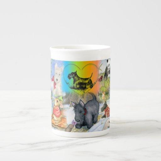 Taza de madera de la especialidad de la porcelana  taza de porcelana