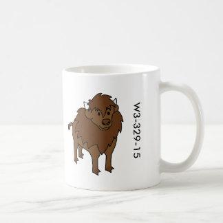 Taza de madera del búfalo de la insignia